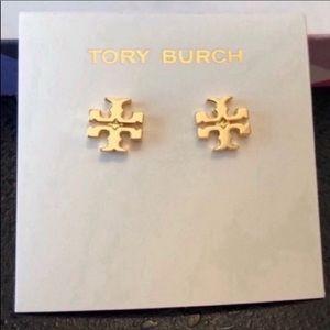 Tory Burch NWOT Gold T-Logo Small Stud Earrings